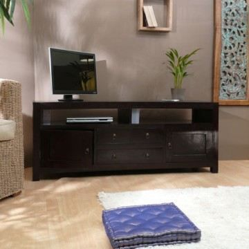 meuble tv plasma acajou 150 multim dia actuo aka achat. Black Bedroom Furniture Sets. Home Design Ideas