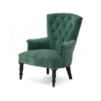 fauteuil en velours salma vert canard achat vente. Black Bedroom Furniture Sets. Home Design Ideas