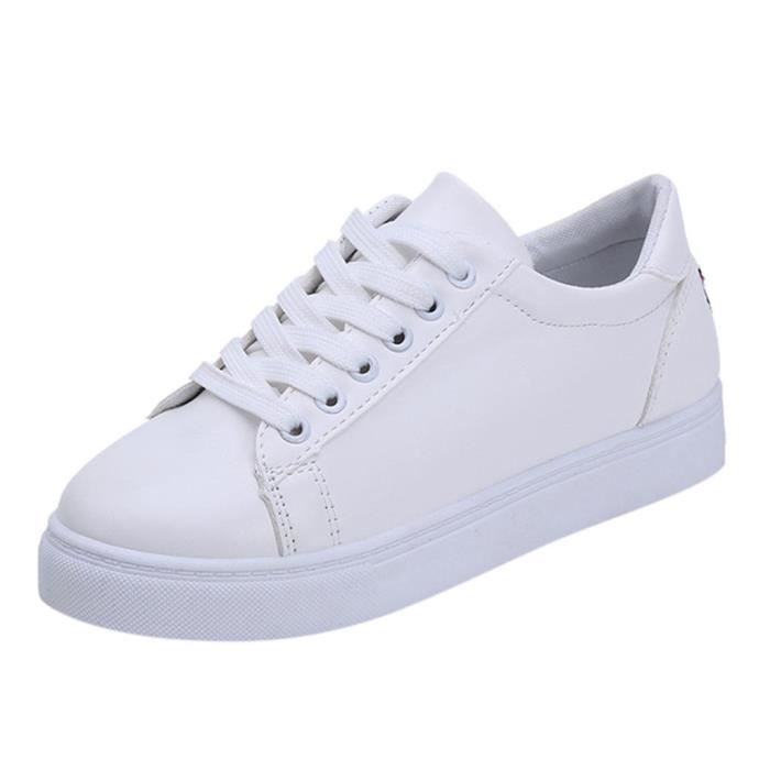 Toe down8046 Cartoon Féminine Sneakers Cat Mode Ronde Casual White Embroier Flat qFXwFgaA