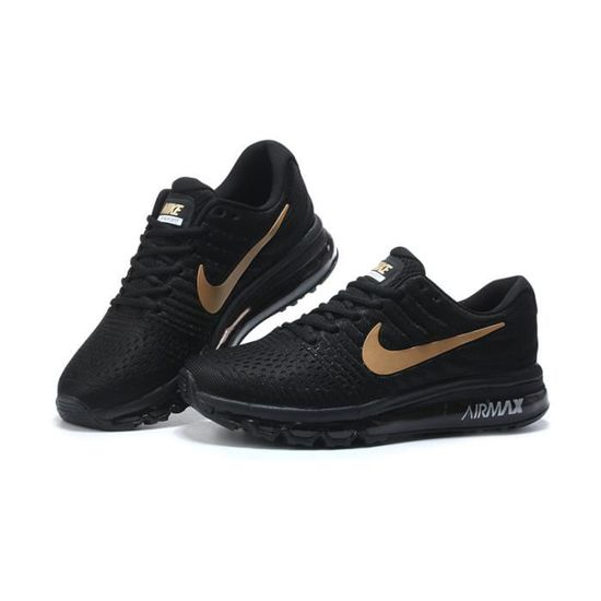 hot nike air max 2017 or noir sports chaussures 2c378 04fd8