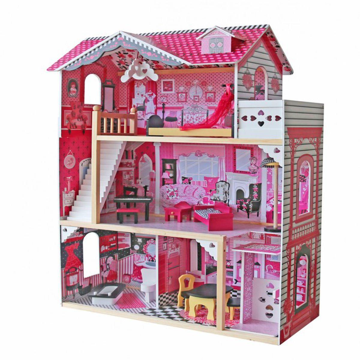 Maison Barbie En Bois Achat Vente Jeux Et Jouets Pas Chers