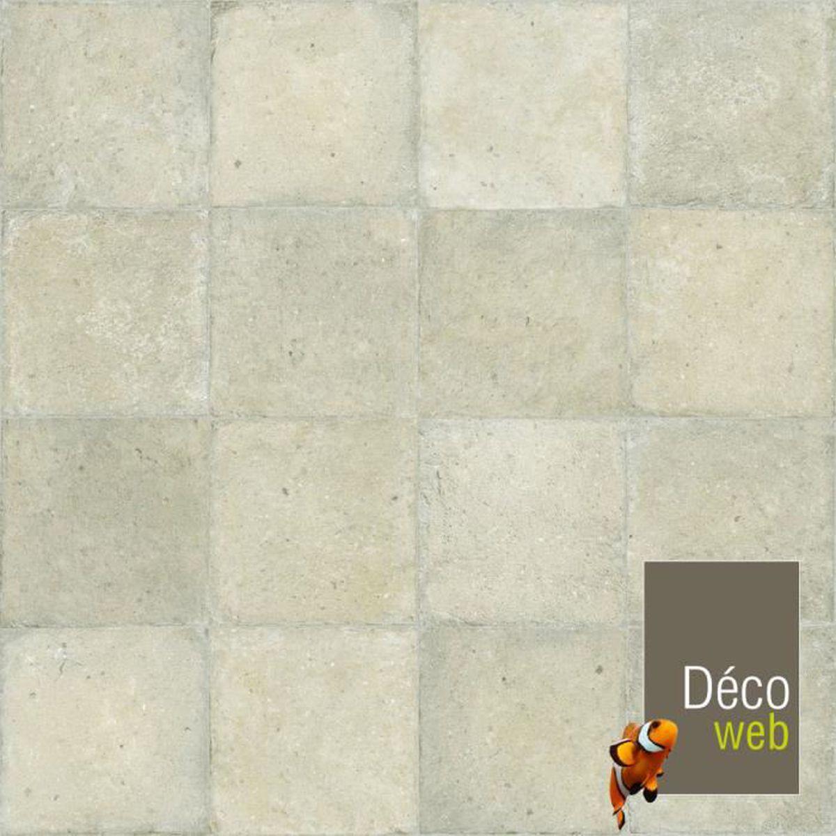 Sol Pvc Salle A Manger 3 x 3m - sol pvc best - motif carrelage ton pierre - achat