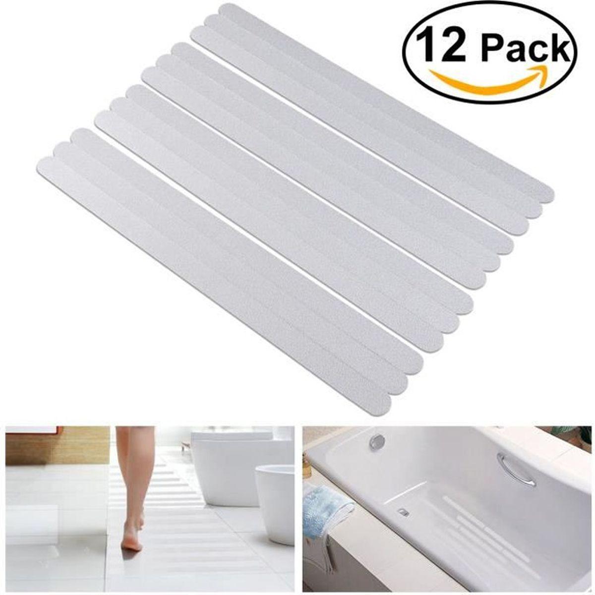 Aide Pour Sortir De La Baignoire 12pcs bandes autocollants antidérapantes pour baignoire