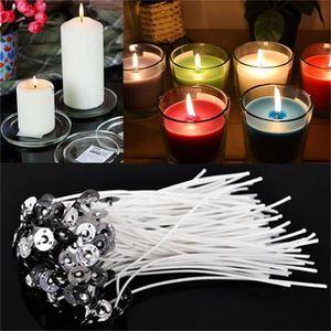 20PCS mèches de chandelles 20 cm coton Core Candle Making Supplies pretabbed