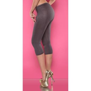 COLLANT SANS PIED legging sexy gris strass fashion femme