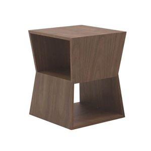 TABLE D'APPOINT Table d'Appoint WATSON Placage En Bois Noyer