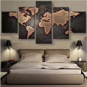 TABLEAU - TOILE Carte du monde Panneau 150cm*80cm sans cadre