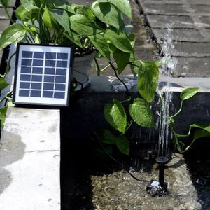FONTAINE DE JARDIN Pompe à eau submersible solaire miniature de 1,5 W