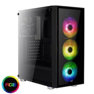 BOITIER PC  Aerocool QUARTZ RGB - Boîtier de jeu PC (Semitorre