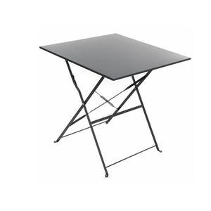 TABLE DE JARDIN  Table de jardin carrée Camargue 70 x 70 cm Graphiq