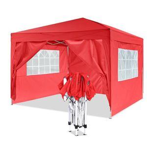 TONNELLE - BARNUM Tente de réception pliante 3 x 3 x 2.6 m auvent av