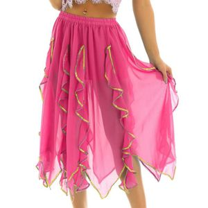 JUPETTE DE DANSE Femme Fille Jupe Danse Orientale Taille Elastique