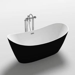 BAIGNOIRE - KIT BALNEO Baignoire - 170x80x72cm - Design bicolore - Blanc/