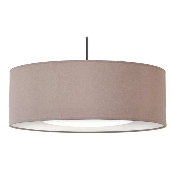 Alfena60d lustre suspension cotton cylindre diam tre 60 cm r flecteur 30 - Suspension lustre pas cher ...