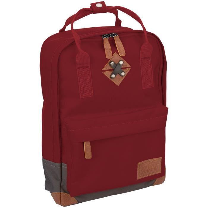ABBEY Petit sac à dos en polyester 300T - Doublure 100% polyester - Dimensions 24 x 10 x 33cm - Rouge Bordeaux