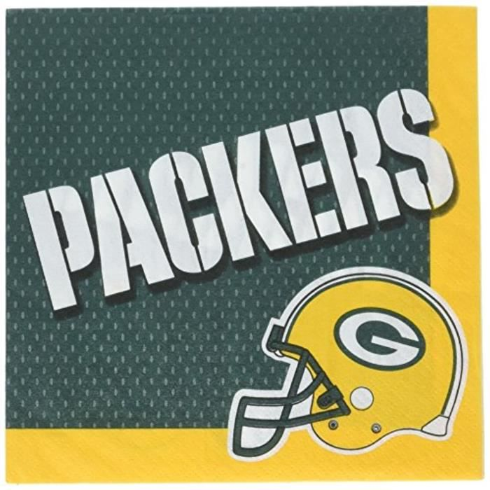 Shaker - Agitateur - Set Cocktail C1GPJ Serviettes déjeuner Green Bay Packers Collection96 Ct.