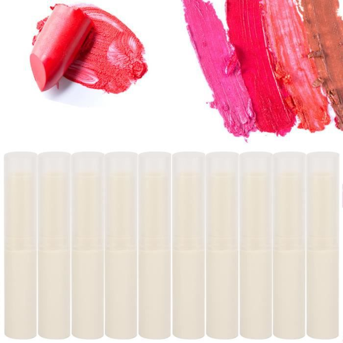10pcs vide baume à lèvres tube brillant à lèvres conteneur bricolage rouge à lèvres faisant accessoire (beige)