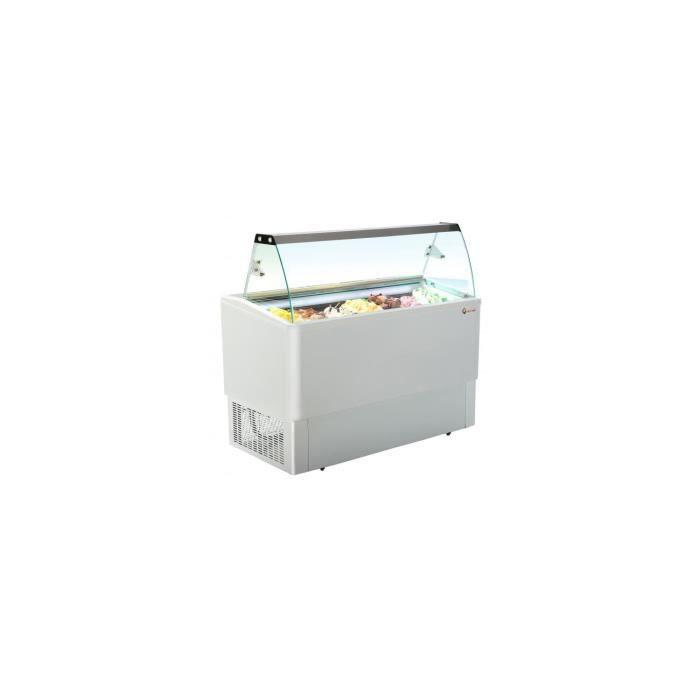 Moyenne vitrine crème glacée