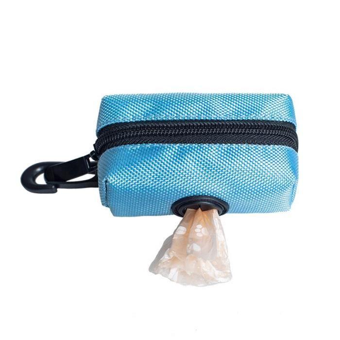 Sac de proprete excrements,Sacs de merde de chien portable chiot sac de déchets Pooper Scooper pour chiens en plein air - Type blue