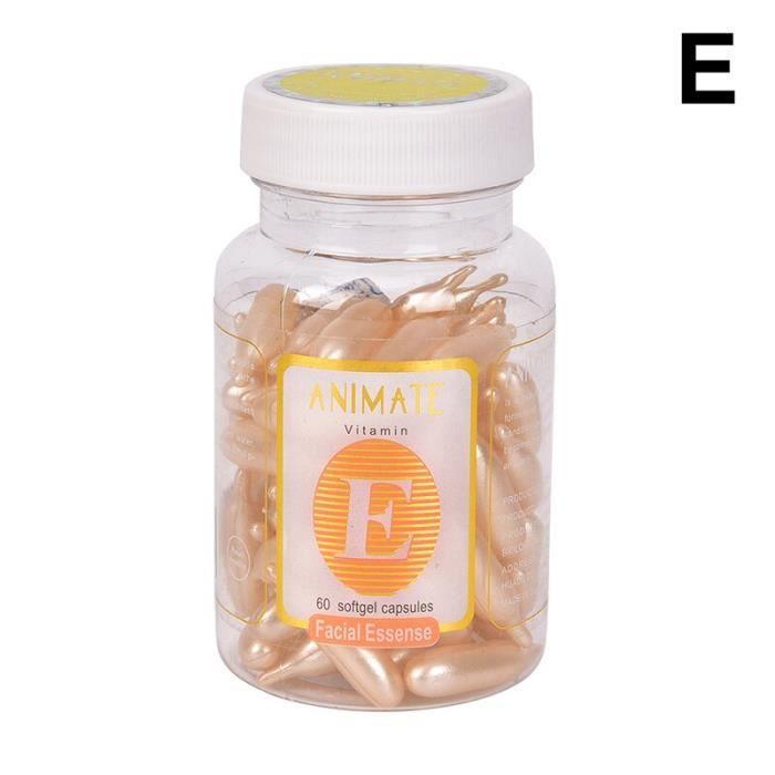 60 pièces-boîte Vitamine E Essence Visage Crème Capsule Blanchissant Crème Rousseur Égayer Réparation Cicatrice D'ac W4441