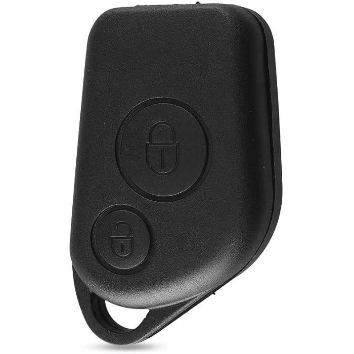 Coque de clé télécommande Touches de Coquille 2 Boutons Compatible avec Citroen Saxo Berlingo Picasso Xsara Peugeot 306 307 [419]