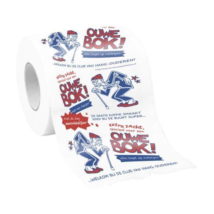 Paper Dreams papier toilette Ouwe Bok papier pour hommes blanc/rouge