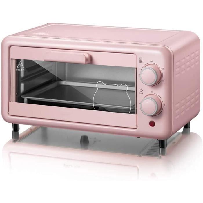 MINI FOUR Toaster oven QYJH-11L Mini Four &agrave Poser - Tube Chauffant en Acier Inoxydable - avec Plaque de Cuisson, Plaque &a173