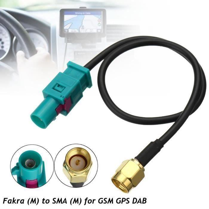 BO 1x Câble Adaptateur d'antenne Fakra Z (M) à SMA (M) Pour GSM GPS DAB