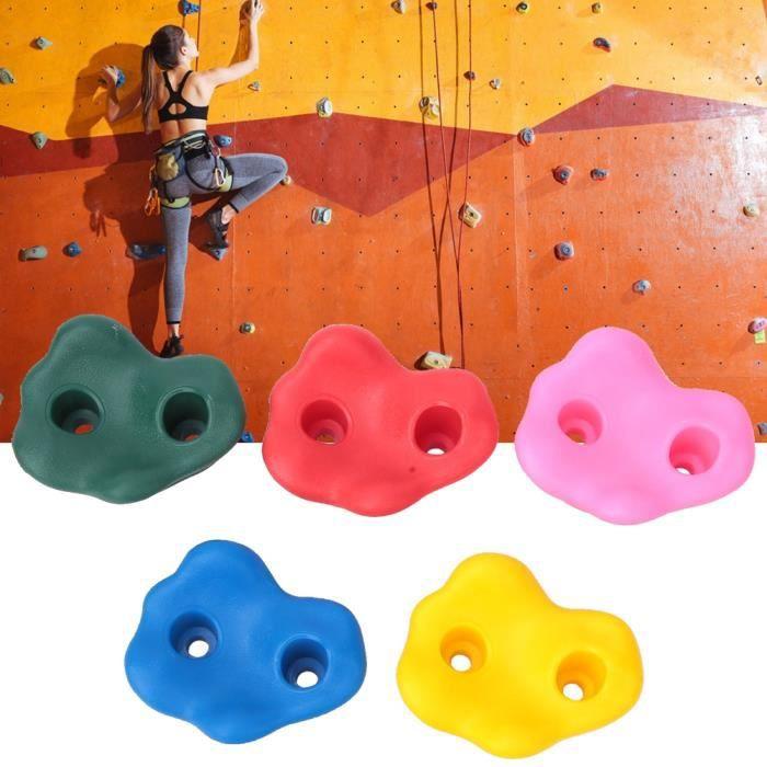 Cikonielf Prises d'escalade L'escalade de roche pour enfants de 10 pièces tient des accessoires d'escalade de mur pour