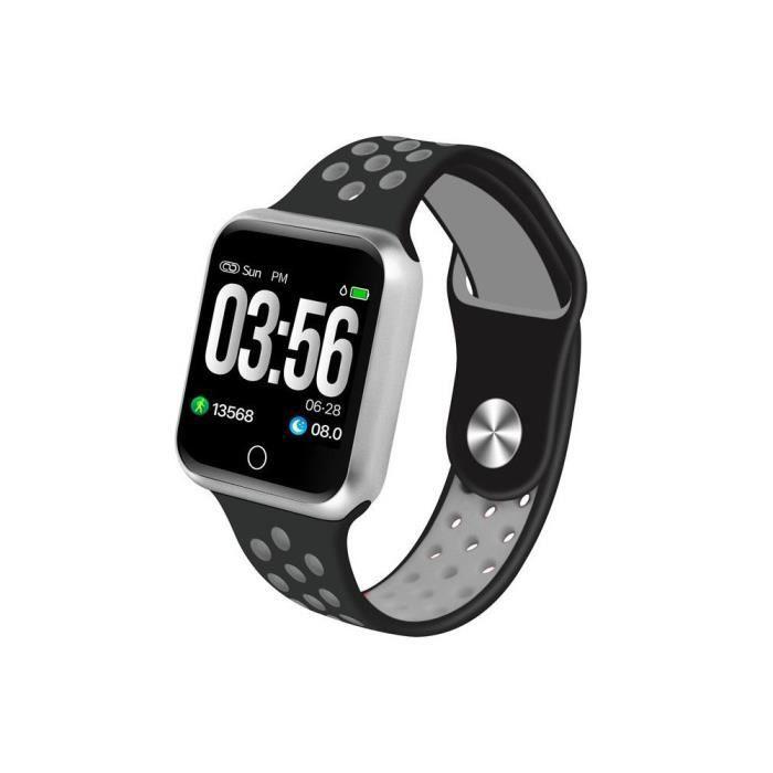 Montre connectée sport X-Fit - Bluetooth - IP67 - cardiofréquencemètre - multisport - Gris - Cellys