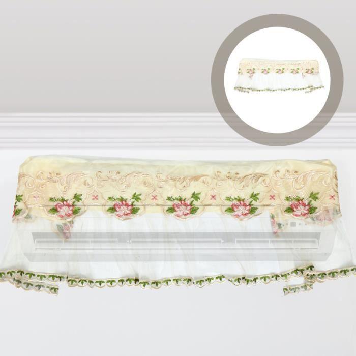 Couvercle climatiseur Motif de fleurs Dentelle Climatisation Protecteur panneau lateral habitation mobile - amenagement interieur