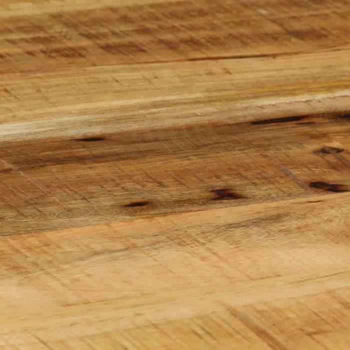 Table basse Ovale Bois massif de manguier brut et acier 100 cm -PAT HILILAND Pois: 14.45