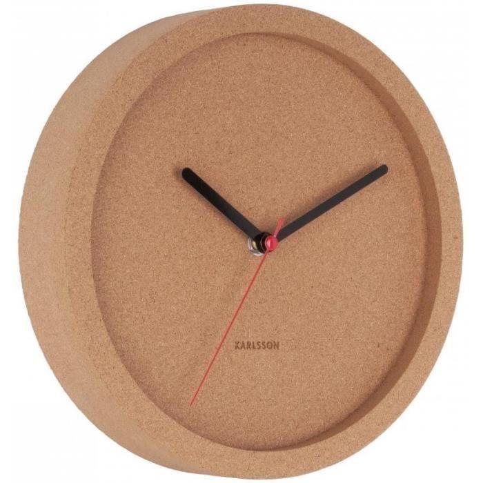 Horloge en liège Tom 26 cm -