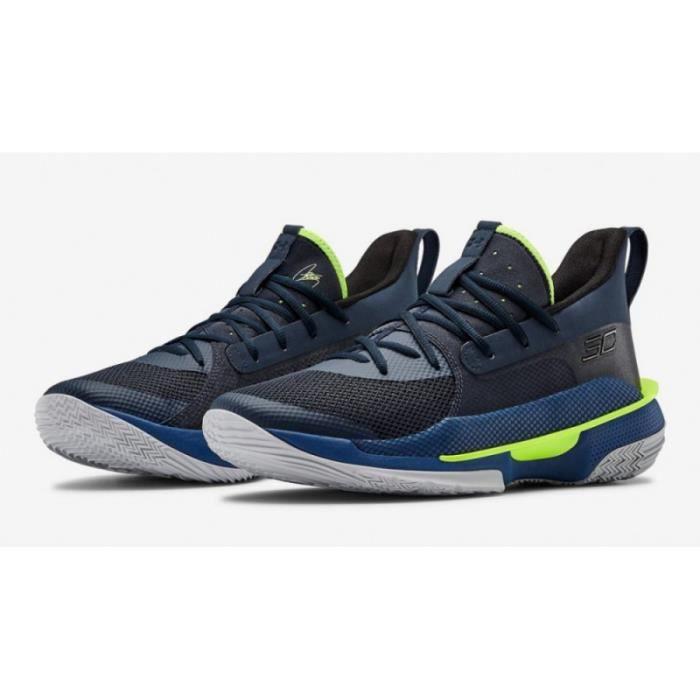 Chaussure de Basketball Under Armour Curry 7 Bleu marine Pour Homme
