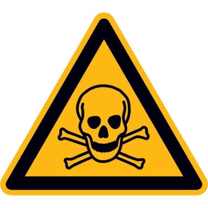 Panneau d'avertissement Toxique SL100mm