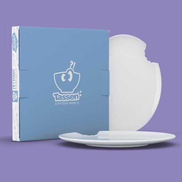 Assiettes à Dessert Morsure 20cm (x2) - Tassen Blanc