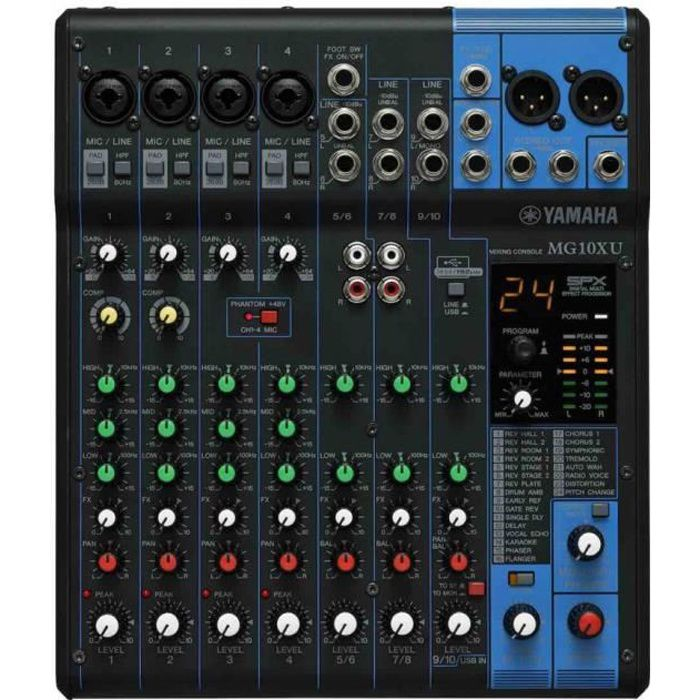Yamaha MG10X - Table de mixage 10 canaux avec effets