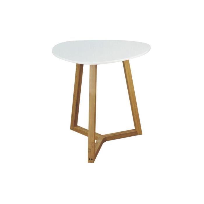 Aubry Gaspard Mtb 1310 Table D Appoint En Bois Et Mdf Laque Blanc