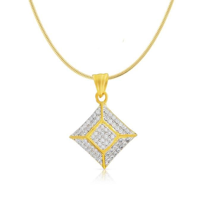 Womens Gold Plated Square Shine Pendant With Cz For Ps1190139g IAKIM