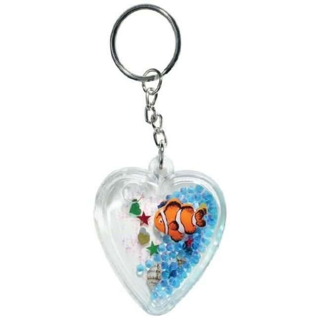 Porte cl coeur figurine poisson clown achat vente for Poisson clown achat