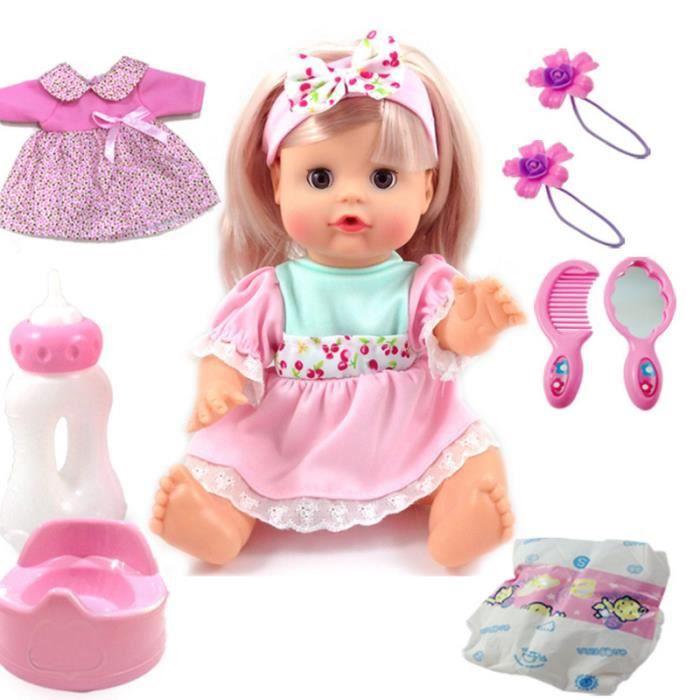 Cadeau de Noël Poupées Barbie peut parler peux chanter à boire