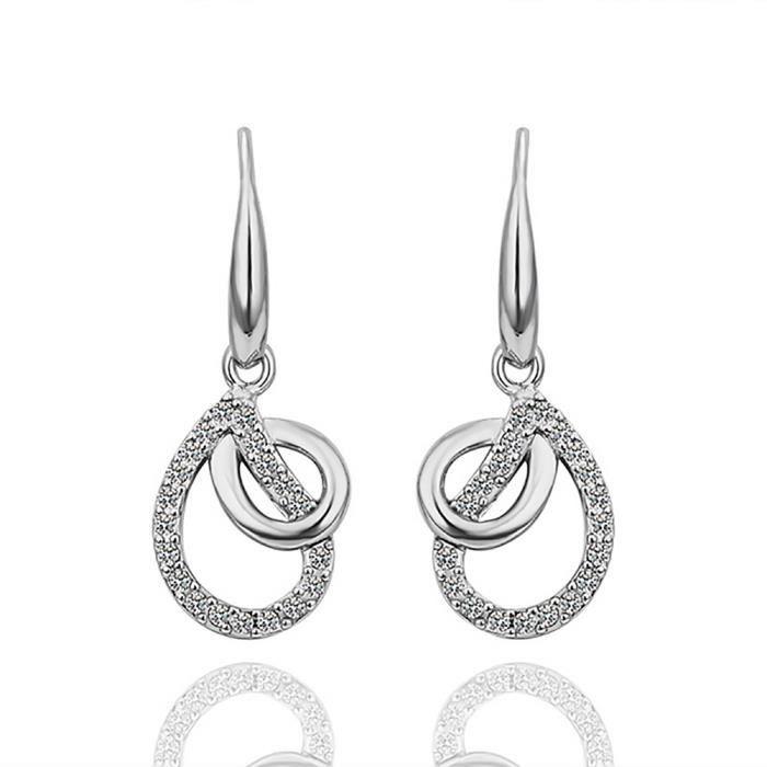 Boucle d'oreille Boucles d'oreilles pendante Plaqué platine 750/00
