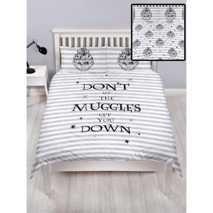 HOUSSE DE COUETTE SEULE Harry Potter Spell double housse de couette et tai