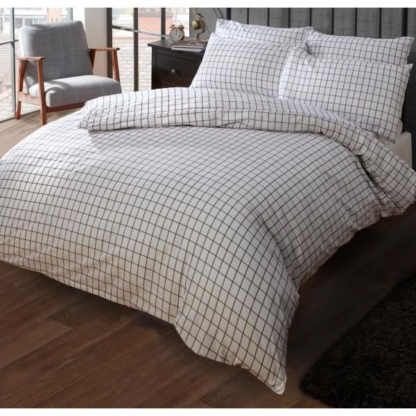 parure de lit marine et blanche carreaux de marque louisiana bedding 200x200 cm achat. Black Bedroom Furniture Sets. Home Design Ideas