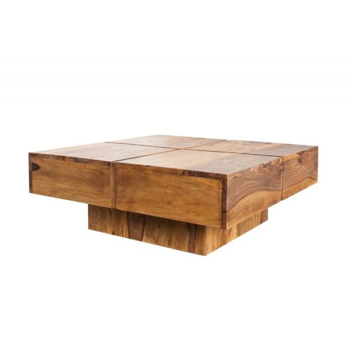 Table basse design bois massif - Table basse bois massif design ...