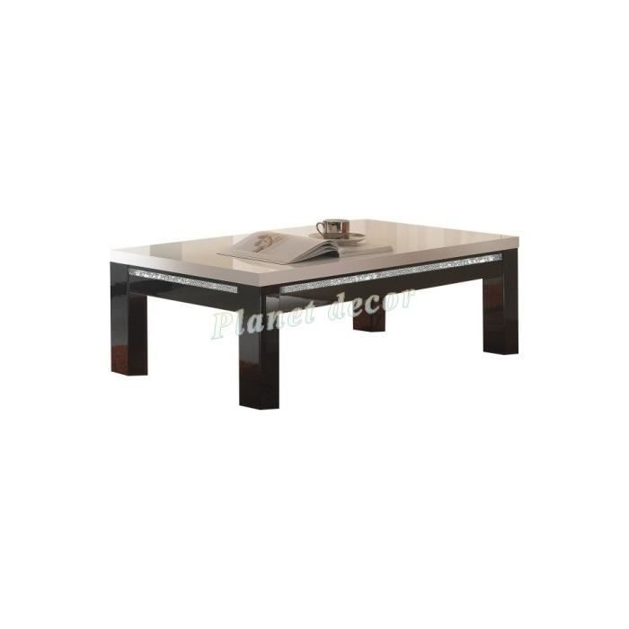 table basse rectangle cromo laque bicolore achat vente table basse table basse rectangle. Black Bedroom Furniture Sets. Home Design Ideas