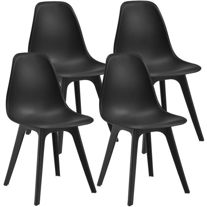 en casa set de 4 chaises design chaise