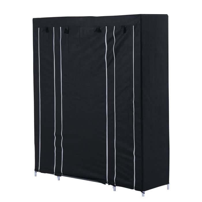 armoire v tements en tissu penderie meuble de rangement. Black Bedroom Furniture Sets. Home Design Ideas