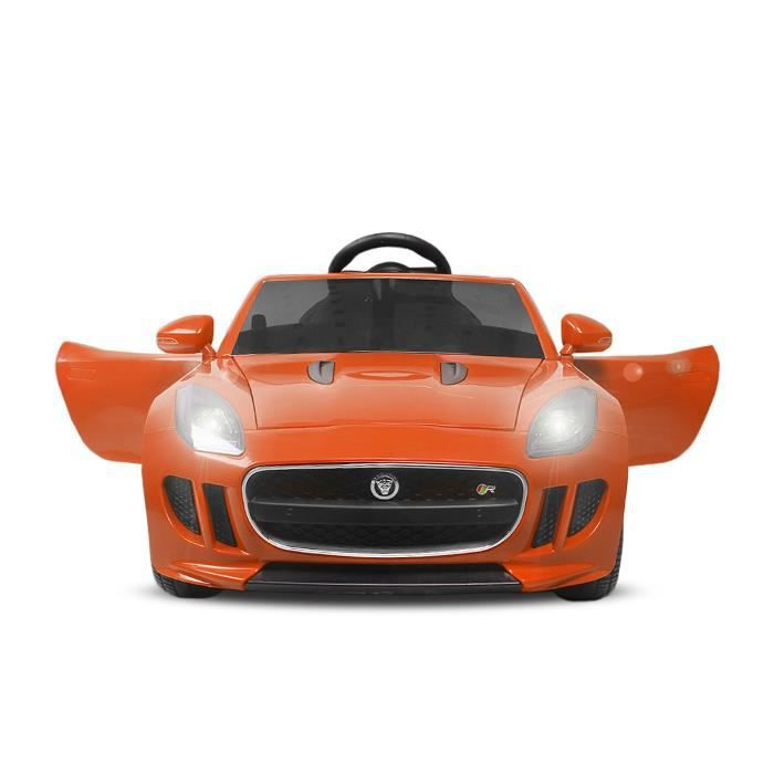 voiture lectrique pour enfant jaguar f orange 2x35w achat vente voiture enfant. Black Bedroom Furniture Sets. Home Design Ideas