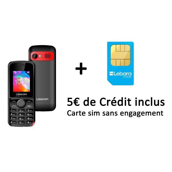 Pack Logicom Posh 170 Carte Sim Lebara 5 Inclus Achat Telephone Portable Pas Cher Avis Et Meilleur Prix Cdiscount